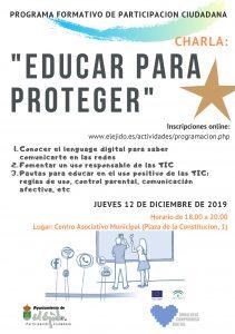 """Charla """"Educar para proteger"""" @ Centro Asociativo Municipal"""