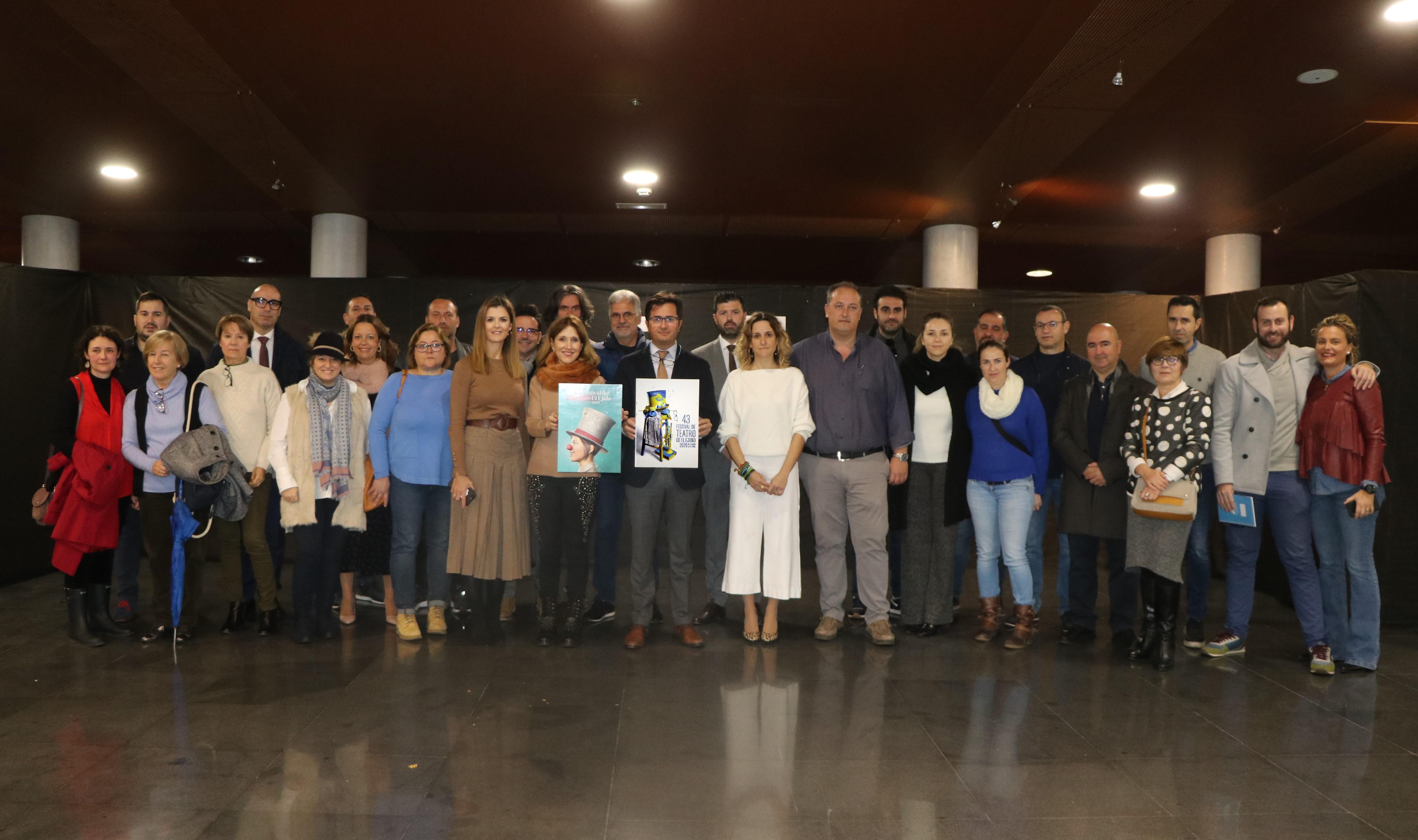 El cartel del 43 Festival del Teatro de El Ejido lucirá este año un diseño visual, fresco y limpio inspirado en el yacimiento de Ciavieja