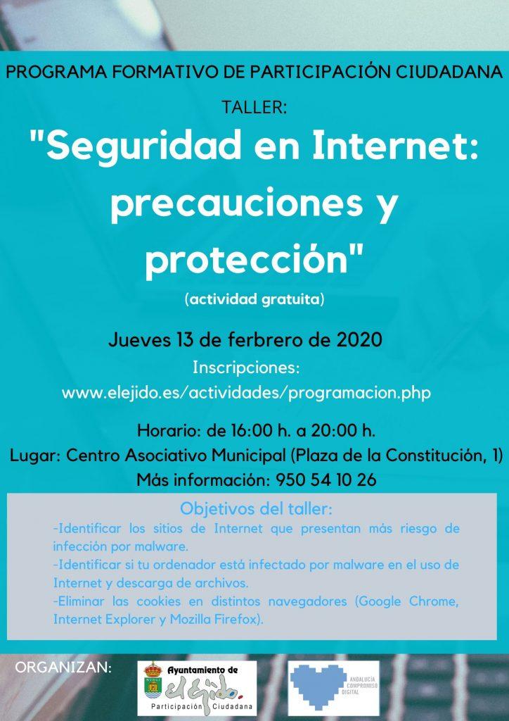 """Taller """"Seguridad en Internet: precauciones y proteccion"""" @ Centro Asociativo Municipal"""