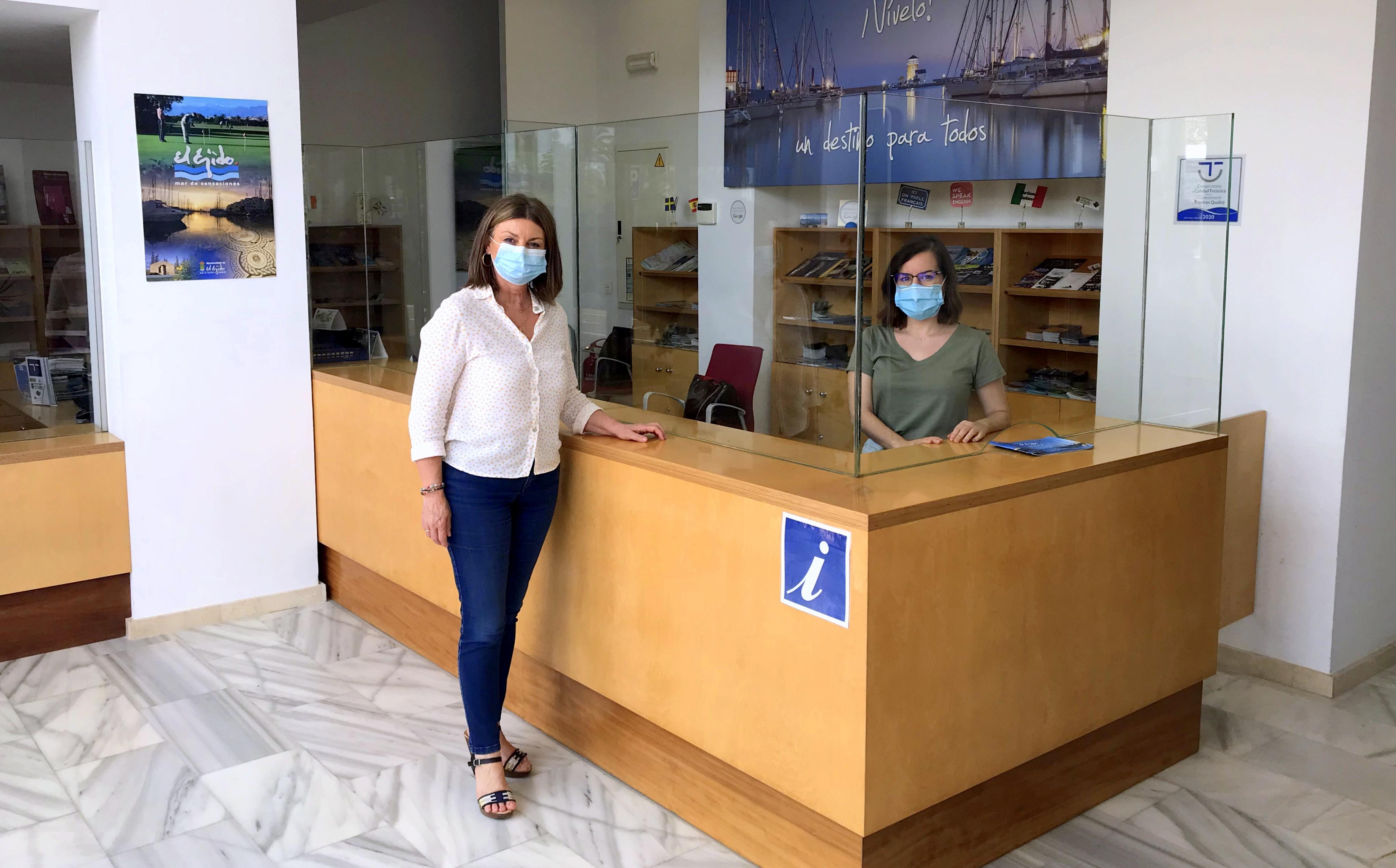 """La Oficina Municipal de Información Turística de El Ejido reabre sus puertas cumpliendo con todas las medidas de seguridad y dando ejemplo de que el municipio es un """"destino tranquilo y seguro"""""""