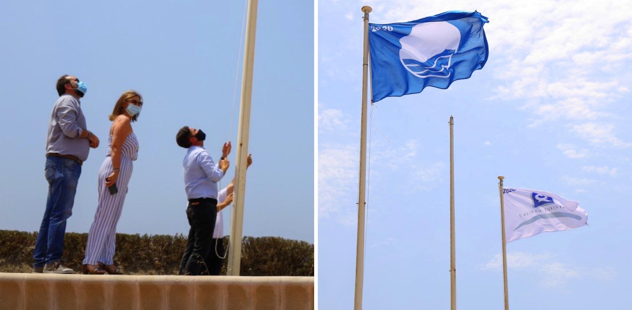 El Ejido renueva cuatro Banderas Azules para sus playas que avalan la calidad, excelencia y seguridad de un destino único