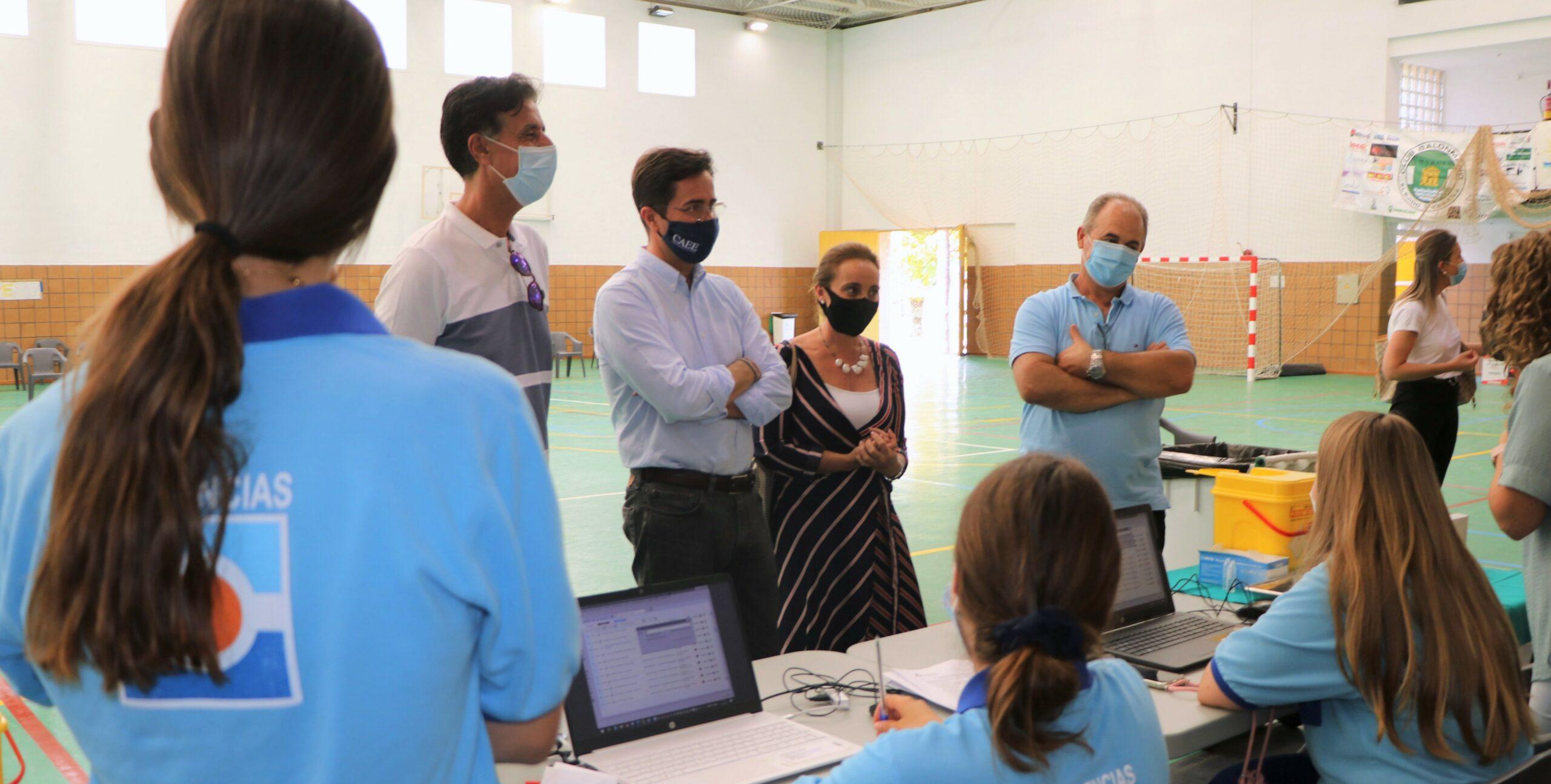 Los pabellones de Las Norias y Balerma se suman a los puntos de vacunación masiva frente al COVID-19 para avanzar en el proceso de administración de las dosis